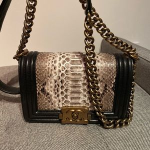 Chanel Bag Mini Boy Sneak Skin 🐍